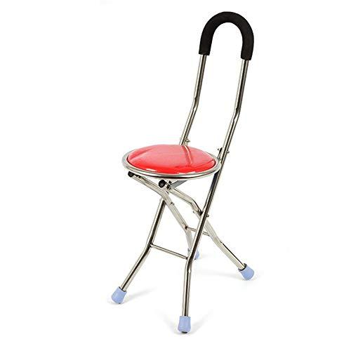 JINSE buisbuisvouw voor ouderenverzorging 2-in-1 stoel met vier poten, tot 150 kg, verstelbare buisstoel, draagbare trekker