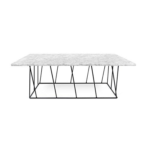 Paris Prix - Temahome - Table Basse Helix 120cm Marbre Blanc & Métal Noir