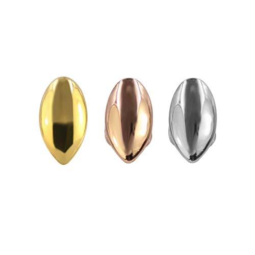 EXCEART 3 Stück einzelne Zahnbürsten Kappe Cosplay Vampirzähne Werwolf Zähne Dekoration für Outdoor Party Zuhause Gold Silber Gold
