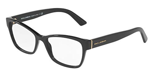 Dolce & Gabbana Dolce & Gabanna DG3274 501 54 Black Woman Rectangle Eyeglasses