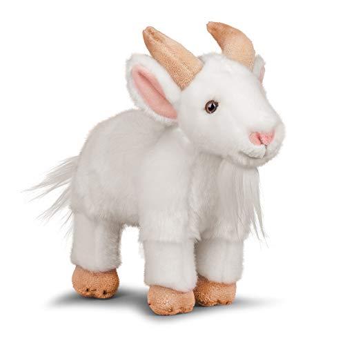 Animigos Plüschtier Ziege weiß, Stofftier im realistischen Design, kuschelig weich, ca. 24 cm groß