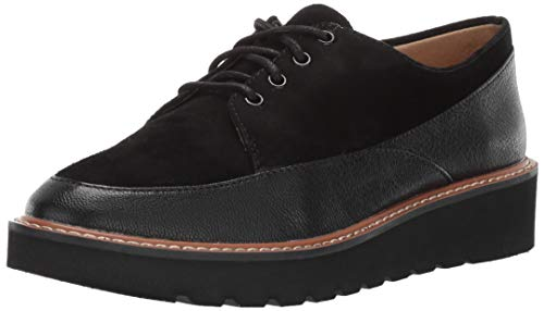 Naturalizer Women's Auburn Oxford, Black Leather, 11 W US