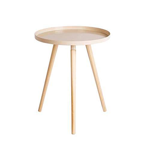 Desk Xiaolin Table D'appoint, Petit Type Moderne Métal Table Basse - Facile À Assembler Décoration Polyvalente Intérieur Et Extérieur (Couleur : Beige)