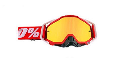 Carolilly Motorradbrille Retro Brille Motorrad Winddichte Brille Fahrradbrille Herren Motocross Brille Schwarz Skibrille Herren (G, Einheitsgröße)