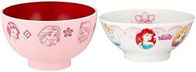 【セット買い】新 ディズニー プリンセス 塗 汁椀 M ピンク+ お茶碗 直径10.5cm ホワイト