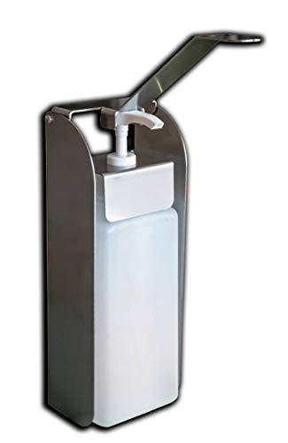 Desinfektionsspender für Desinfektionsmittel, antibakterielle Seife, Gelinkl. 1 Liter Flasche Desinfektionsmittelspender aus Edelstahl