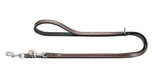 HUNTER Capri Verstellbare Führleine für Hunde, Leder, Nappa, weich, 2,0/200 cm, metallic braun