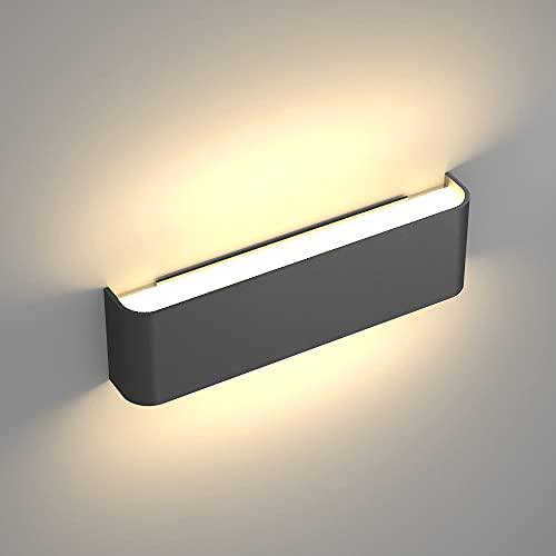Luz de tocador Luces LED para accesorios de iluminación de baño Negro 10W 3000K Lámpara de pared Aplique de pared moderno Mate de...