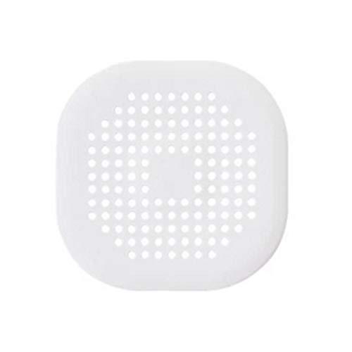 WXZQ Tapa de desagüe Cuadrada para Ducha Drenaje de TPR Colector de Pelo Tapón de Silicona Plano para baño y Cocina Tapón de colador Plano Blanco