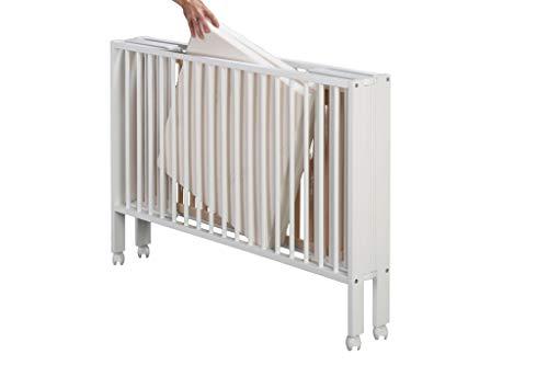 SchwabenKids® Tissi Faltbett Babybett Reisebett + Matratze + Schutzhülle klappbar faltbar weiß