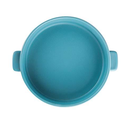 YARNOW Suppentassen mit Griffen Keramik Französisch Zwiebel Suppenschüssel/Backen Servieren Keramik Himmelblau Mikrowelle Spülmaschinenfest Porzellan Stapelbar Griff