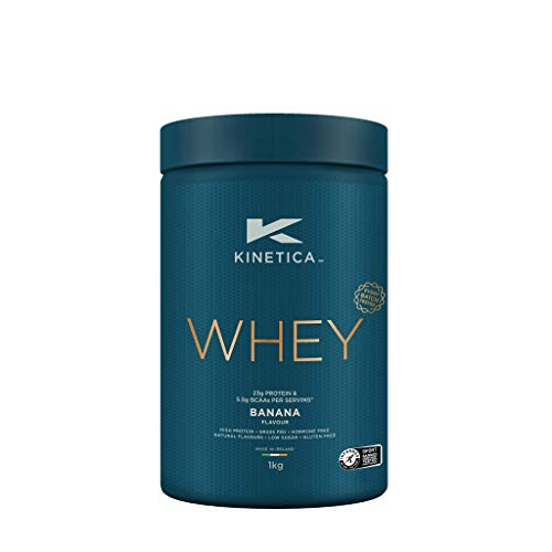 Kinetica Whey Protein Powder, 33 Servings, Banana, 1kg