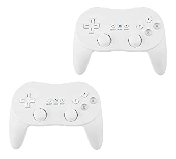 Beastron New Classic Pro Controller Console Gampad/Joypad Compatible with Wii Wii U White 2 Pack  ZG-WC2