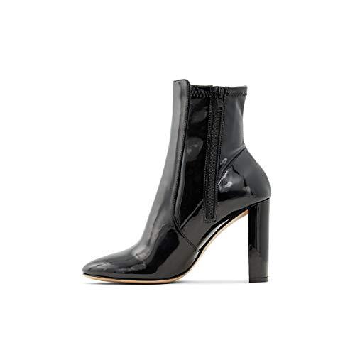 ALDO Women's Aurellane Block Heel Ankle Boot, Other Black, 6.5