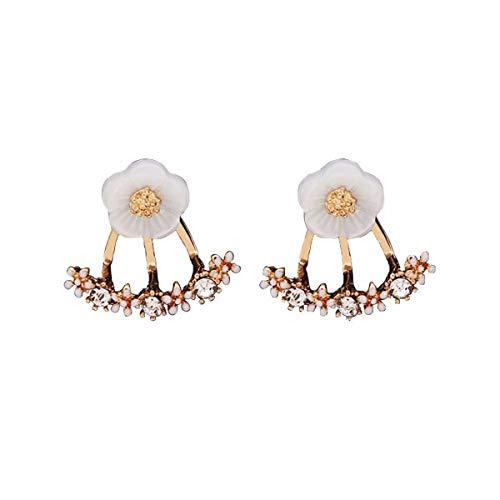 WANGLETA Stud Earrings gota aretes de regalo para las mujeres un oído clavo enlace oído singles femeninos de rango doble arriba y abajo pendientes oreja caída