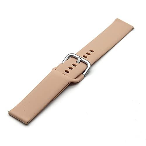 LLKHFA Nueva Banda de Color 22mm de 20 mm para Samsung Galaxy Watch 42 46mm Galaxy Watch 3 45mm 41mm Gel de sílice para Amazfit BIP GTR Correas activas2 (Band Color : T15, Size : 20mm)