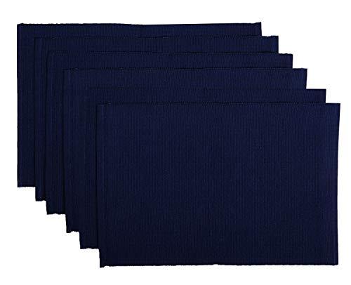 Set di 6 tovagliette in cotone - 33x48 cm blu navy decorazione per la tavola da pranzo - tovaglietta...