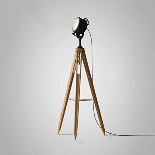 DXX-HR Lámpara de pie, con Estilo Retro Industrial Fotografía Film Studio Estilo trípode Lámpara de pie de Madera y Esmerilado del diseño de la Lente - Diseño Accesorio de iluminación