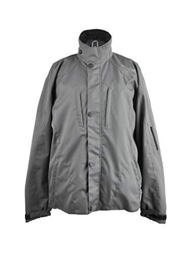 KENROD Chaqueta de cordura de manga larga y bolsillos con cremallera Ajustable al pantalón con lineas reflectantes Color negro/gris Talla L