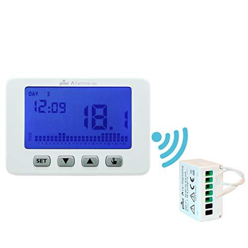 Cronotermostato Wireless digitale da parete settimanale - Plikc FIAMMA-WR PLK267604