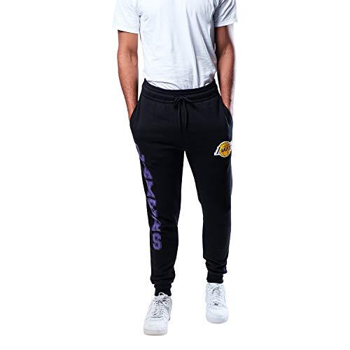 Ultra Game NBA Los Angeles Lakers Mens Basic Soft Terry Jogger Pants, Team Color, Medium