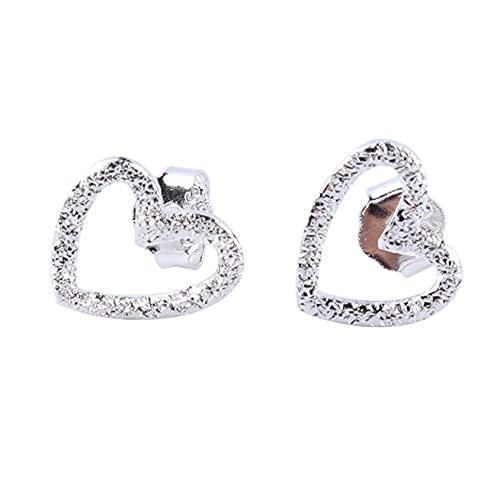 SMEJS, pendientes de botón de corazón simples, joyería para mujeres, niñas, pendientes con dijes, regalos para mujeres, regalo de joyería de cumpleaños