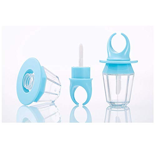 8ml Transparent Gloss Gloss Tube Vide Bouteille en Plastique Rechargeable lèvre lèvre Brillant Tube Bricolage cosmétique Rouge à lèvres Tube Outil de Maquillage (Color : Blue, Size : 30pcs)