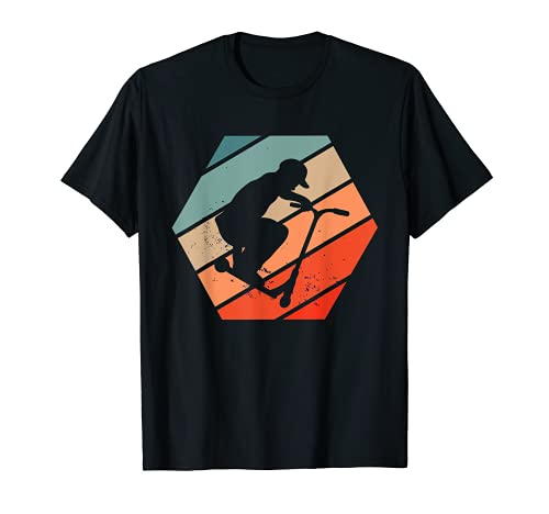 Stunt Scooter Tretroller Skater Retro Vintage T-Shirt
