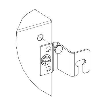 Schneider NSYAEFPF40SC Wandlaschen, Stahl, 40mm (4) für Gehäuse Spacial 3D