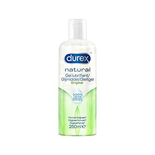 Durex - Gel Lubrifiant Sexuel Naturel - Lubrifiant intime à base d'eau - 250ml