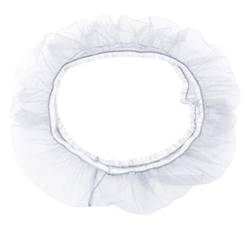 Fliyeong Cubierta suave para jaula de pájaros, protector de semillas, malla para loros, cesta elástica, color blanco, tamaño mediano
