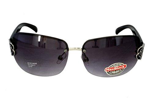 Foster Grant CH BLK FG89 Gafas de sol rectangulares del estilo de las mujeres Marco sin marco Gradient Lenses 100% UV Protection CAT 3