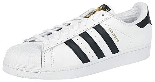 adidas Originals adidas Originals Superstar Jungen-Sneaker, Weiß - Weiß / Schwarz / Weiß - Größe: 42 EU
