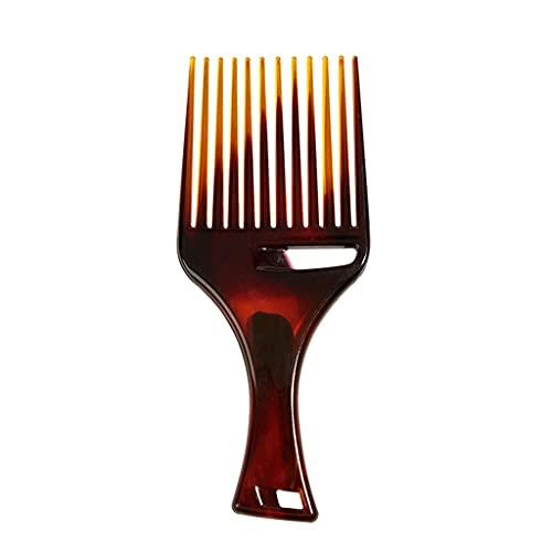 RK-HYTQWR Afro Hair Pick Peine Peines de Horquilla Suave Herramienta de Peinado Africana de plástico Ligero, Soporte para Alisar el Cabello