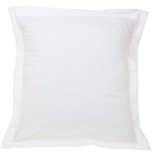 A Set of Three (3) Solid White Pillow Shams 650 Thread Count 100% Egyptian Cotton EURO (26 x 26) Inch + 2 Inch Flange.