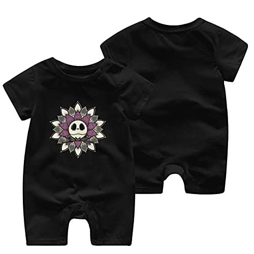 O&X Un mono de manga corta para bebé de pesadilla antes de Navidad