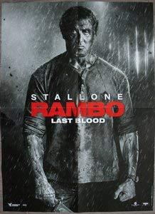 Rambo Last Blood Kino Poster Original (Format 160 x 120 cm gefaltet) Sylvester Stallone 2019