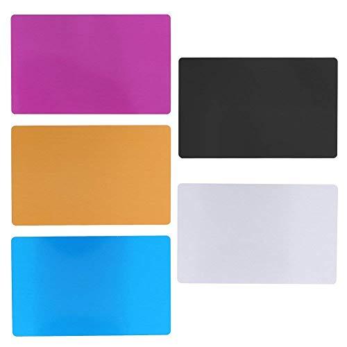 50St Metall Visitenkarten Zusätze für Kunden Laser Gravur DIY Geschenk Karten 5 Farben (schwarz)