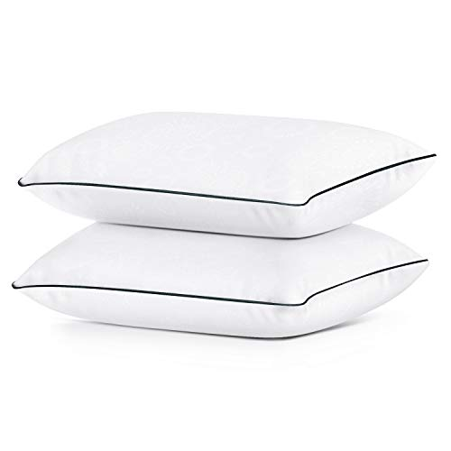 Coolzon Bed Pillows for Sleeping Queen Pillows Set of 2, Gel Cooling Pillow Home & Hotel Collection Fluffy Pillows Soft and Firm Down Alternative Fill, 2 Pack