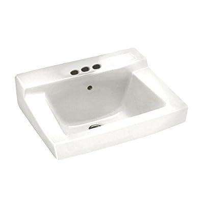American Standard 0321.026.020 Declyn 4-Inch Centerset Wall Mount Sink, White