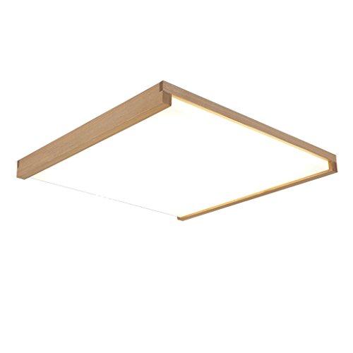 SHAOHUAYING ultradunne moderne minimalistische Scandinavische plafondlamp, origineel hout vierkante lamp plafond LED woonkamer slaapkamer lamp