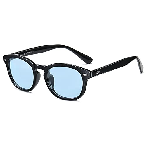 SHEEN KELLY Occhiali da sole stile mod uomo donna VINTAGE unisex rotondi lente blu colorate