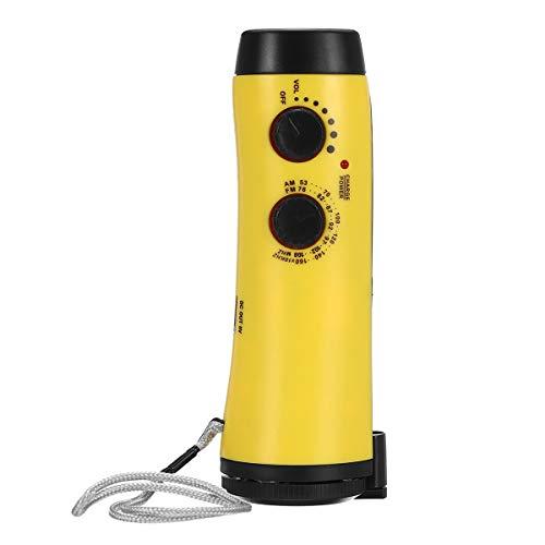 es prefecto para la transmisión / podcasting / juegos Manivela de mano de emergencia portátil AM FM WB NOAA Radio solar clima con alarma DIRIGIÓ Flashlight Power Bank ( Color : Yellow )