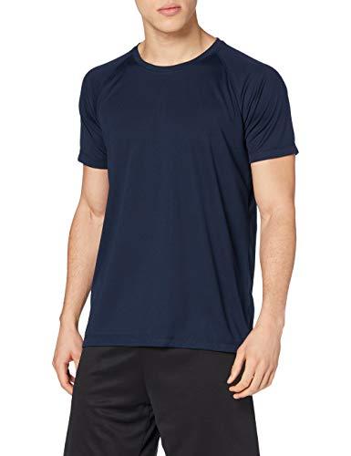 adidas Active 140 Raglan/ST8410 Camiseta, Azul Marino, L para Hombre