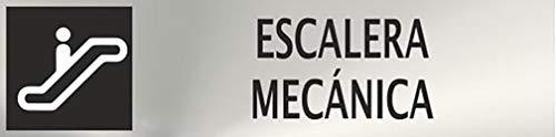MovilCom® - Señal de acero inoxidable ESCALERA MECANICA 200X50mm señal informativa (ref.RD707090)