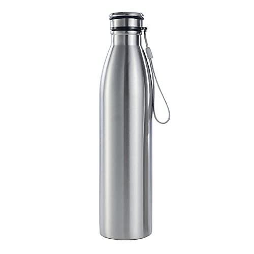 liupan112 650 / 1000ml Botella de agua al aire libre portátil de acero inoxidable de acero inoxidable de gran capacidad de una sola pared de agua fría caliente de la botella de agua aislada de la taza