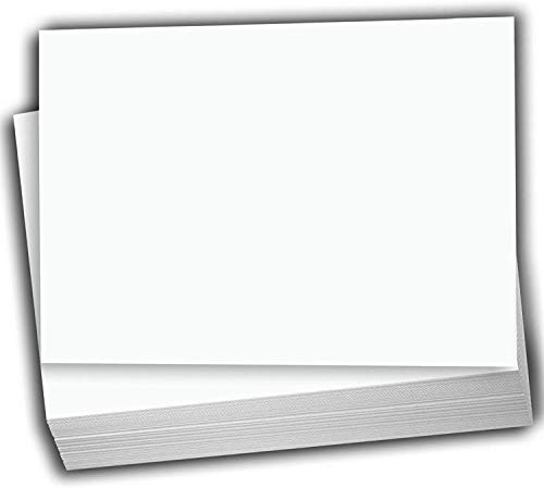 """Hamilco White Cardstock Thick Paper - Blank Index Flash Note & Post Cards - Greeting Invitations Stationary 4 X 6"""" Heavy Weight 80 lb Card Stock for Printer- 100 Pack"""