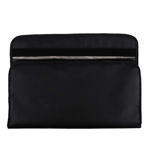 Black Anti Hacking Leather Laptop Tablet Case Bag Travel Faraday Cage