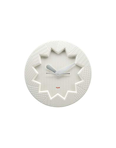 Kartell Crystal Palace Wanduhr, Plastik, Weiß, 34 x 4 x 34 cm