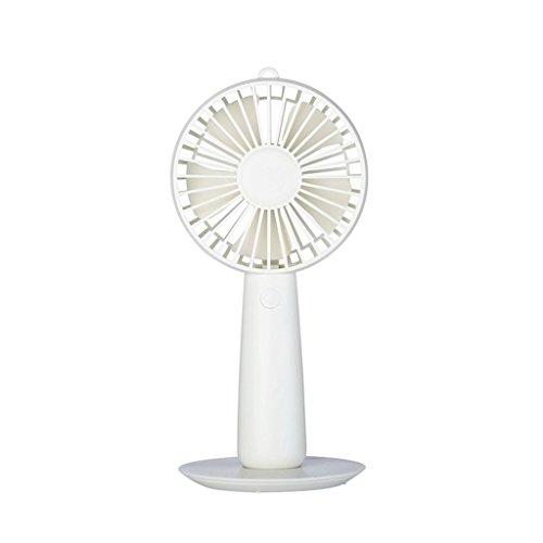 Mini-ventilator, oplaadbaar, USB-ventilator, draagbaar, draagbaar, met spiegel, draagbaar, draagbaar, draagbaar